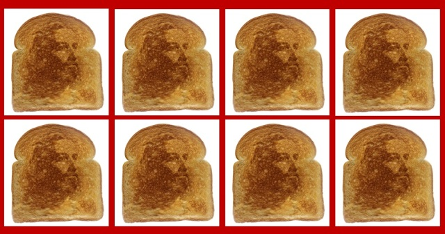 Jesus in toast